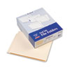 Straight Cut End Tab Folders, One Ply, 9 1/2 Inch Front, Letter, Manila, 100/Box