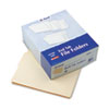 "End Tab Folders, 4"" Tab, Two Ply, Letter, Manila, 100/Box"