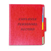 Vertical Personnel Folders, 1/3 Cut Top Tab, Letter, Red