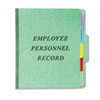 Vertical Personnel Folders, 1/3 Cut Top Tab, Letter, Green