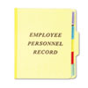 Vertical Personnel Folders, 1/3 Cut Top Tab, Letter, Yellow