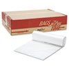 FlexSol Can Liner Hi-D Rolls, 40 x 48, Clear, 250/Carton