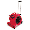 Commercial Three-Speed Air Mover w/Built-on Dolly, Red