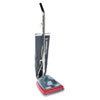 Electrolux Sanitaire Sanitaire Commercial Lightweight Bag-Style Upright Vac, 12 lbs, Gray/Red