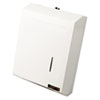 Ex-Cell C-Fold or Multifold Towel Dispenser, 11 1/4 x 4 x 15 1/2, White Enamel