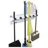 The Clincher Mop &amp; Broom Holder, 34&quot;w x 5.5&quot;d x 7.5&quot;h, White Gloss, Each
