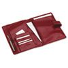 Simulated Leather Wirebound Planning System Cover, 5-1/2 x 8-1/2, Red
