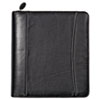 Nappa Leather Ring Bound Organizer w/Zipper, 8-1/2 x 11, Black