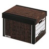 R-Kive Max Storage Box, Letter/Legal, Locking Lid, Woodgrain, 4/Carton
