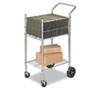 Fellowes Economy Mail Cart, 2-Shelf, 20-1/2w x 38d x 39-1/4h, Chamois