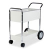 Fellowes Steel Mail Cart, 150-Folder Capacity, 20w x 40-1/2d x 39h, Dove Gray