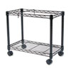 High-Capacity Rolling File Cart, 24w x 14d x 20-1/2h, Black