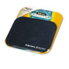 Fellowes Mouse Pad w/Microban, Nonskid Base, 9 x 8, Navy