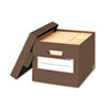 Stor/File Decorative Storage Box, Letter/Legal, Mocha Brown, 4/Carton