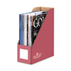 Decorative Magazine File, 4 x 9 x 11 1/2, Persimmon Red