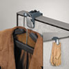 Pro Series Partition Additions Coat Hook and Clip, 1 5/8 x 3, Slate Gray