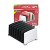 Fellowes File Sorter, Seven Sections, Plastic, 14 1/2 x 10 3/8 x 7 1/2, Black/Silver