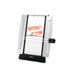 Office Suites Freestanding Desktop Copyholder, 150 Sheet Capacity, Black/Silver