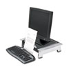 Monitor Riser, Height/Tilt Adjustable, Storage Drawer, Copyholder