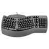 Fellowes Ergonomic Split-Design Keyboard w/Antimicrobial Protection, 117 Keys, Black