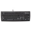 USB Standard Keyboard w/Microban Antimicrobial Protection, 104 Keys, Black
