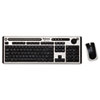 Fellowes Slimline Wireless Antimicrobial Keyboard and Mouse, 15 ft Range, Black/Silver