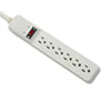 Basic Home/Office Surge Protector, 6 Outlets, 15ft Cord