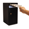 Theft-Resistant Compact Cash Trim Safe, .2 ft, 6w x 7d x 12h, Black