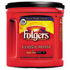 Folgers Coffee, Classic Roast Regular, Ground, 33 9/10oz, Can, 6/Carton