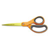 Classic Stainless Steel Scissors, 8 in. Length, Straight, Orange