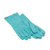 Nitrile Flock-Lined Gloves, Large, Green, 12 Pairs