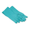 Nitrile Flock-Lined Gloves, Green, X-Large