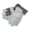 Men's Gunn Gloves with Leather Palm, Large, Gray/Multi, 12 Pairs