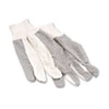 Men's PVC Dotted Canvas Clute Gloves, One Size, 12 Pairs