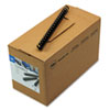 "CombBind Standard Spines, 3/4"" Diameter, 150 Sheet Capacity, Black, 100/Box"