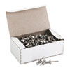 "Aluminum Head Push Pins, Aluminum, Silver, 5/8"", 100/Box"