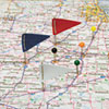 GEM Map Flags, Plastic, Assorted, 1 1/16