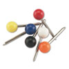 Map Tacks, Plastic, Assorted, 3/8&quot;, 100/Box