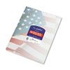 Design Paper, 24 lbs., Flag, 8-1/2 x 11, Blue/Red/White, 100/Pack