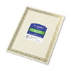 Geographics Foil Stamped Award Certificates, 8-1/2 x 11, Gold Serpentine Border, 12/Pack