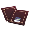 Certificate/Document Cover, 12-1/2 x 9-3/4, Burgundy, 6/Pack