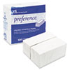 preference 1/8 Fold Dinner Napkins, 15 x 16, White, 3000/Carton