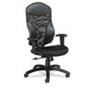 Global Tye Series Mesh Management Series High-Back Swivel/Tilt Chair, Black