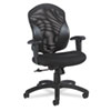 Global Tye Series Mesh Management Series Mid-Back Swivel/Tilt Chair, Black
