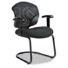 Tye Mesh Management Series Arm Chair w/Cantilever Base, Black