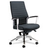 Accord Series High-Back Tilt Chair, Leather/Mock Leather, Black