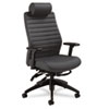 Global Aspen Series Executive Back Multi-Tilt Chair w/Headrest, Onyx Vinyl