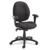 Global Malaga Series Low-Back Multi-Tilter Swivel Chair, Acrylic/Polyester, Asphalt
