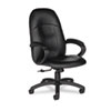 Global Tamiri Series High-Back Tilt Chair, 25 x 27 x 45, Black Leather, Black Frame