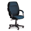 Global Commerce Series High-Back Swivel/Tilt Chair, Ocean Blue Fabric